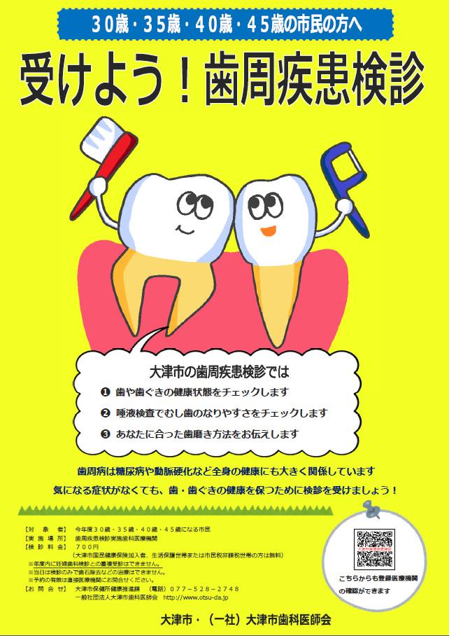 歯周疾患健診ポスター